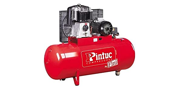 Pintuc; BK 114-270-5.5 270ltr 5,5CV 400V; Compresor de aire fijo, transmisión por correa, serie