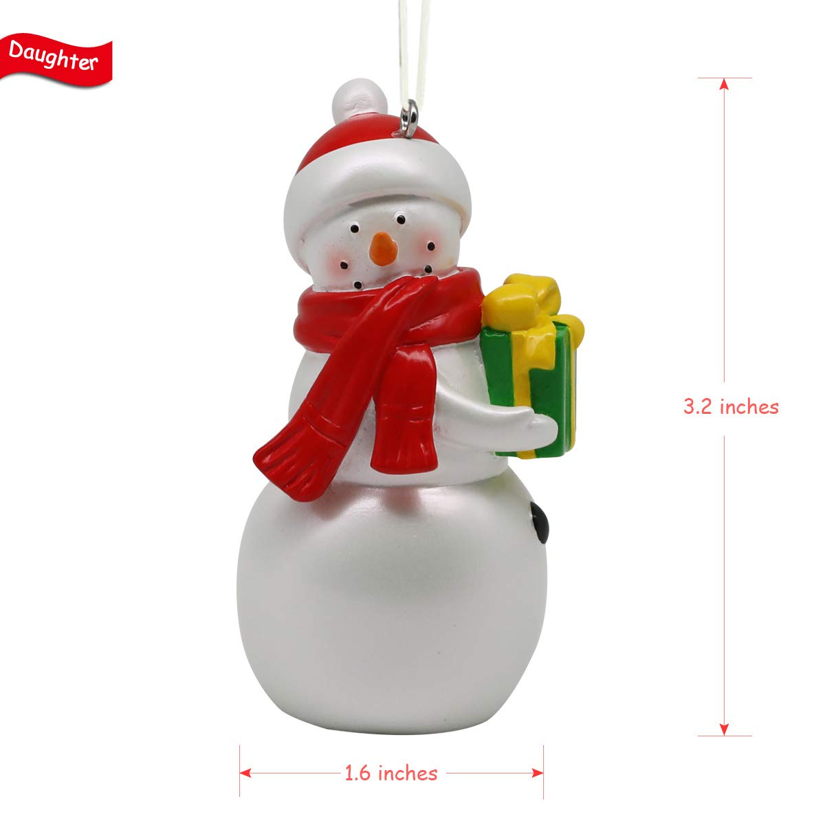 BC BINGO CASTLE Christmas Ornament Gifts 4 Piece Set 2019 Year Dated White Snowman Christmas Tree Home Decorating Small Objects White BC1807-01
