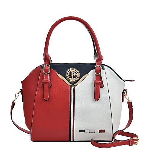 Haute Diva for Women Red Bag Tote Tricoloured Red rAr5Rqw