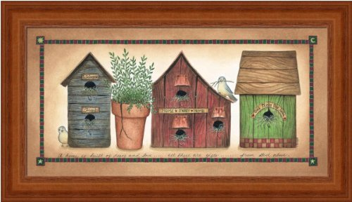 Peace of Love by Linda Spivey Country Birdhouse 13.25x7.25 in Art Print Framed Picture Linda Spivey Country Framed Picture