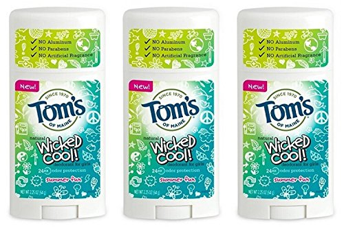 Toms of Maine Natural Wicked Cool Deodorant for Girls Summer Fun 2.25 oz ()