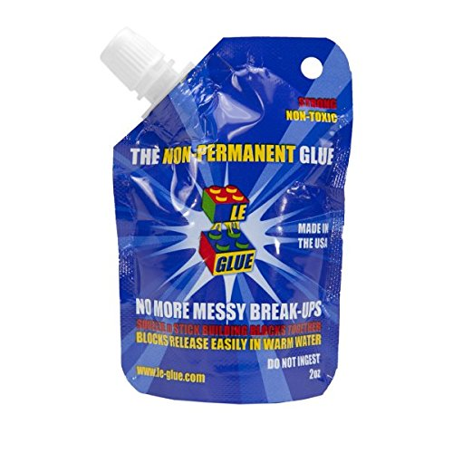 Le-Glue - Temporary Glue for Lego, Mega Blocks, Nano Blocks, and More. Great for Kids! Non-Toxic! Made in USA!