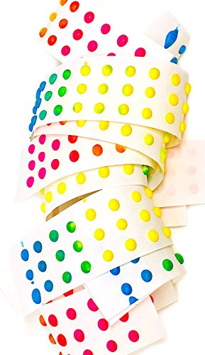 SweetGourmet Old-Fashioned Candy Buttons | Bulk Retro Candies | Single Strip Unwrapped | 10 ()