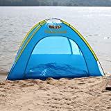 HMSPORT, Inflatable Family Tent 4 Person Large Space, Waterproof for Outdoor Camping Car Travel with Zippered Door and Inflatable Bladder, Water Floating and Anti Snake.