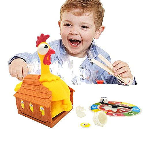 Children's Educational Toys Tricky Chicken Turntable Laying Eggs Lucky Chicken Parent-child Interactive Desktop Games by floor88