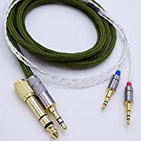 1.2m 5N OCC Silver plated Hi-End HiFi Cable Headphone Upgrade Cable for Hifman HE1000 HE400S He400i HE560 HE-X Oppo PM-1 PM-2