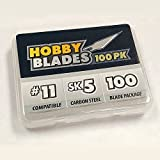 #11 Hobby Blades - Precision Cut SK5 Carbon Steel for Art and Craft - 100 Pack