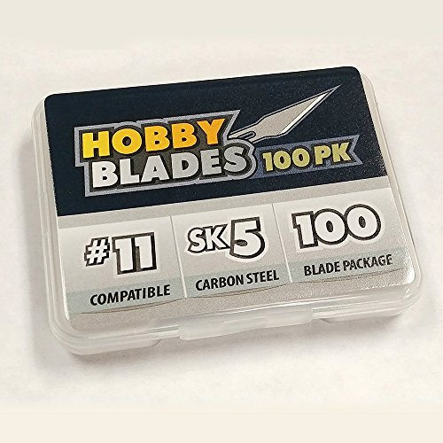 #11 Hobby Blades - Precision Cut SK5 Carbon Steel for Art and Craft - 100 ()