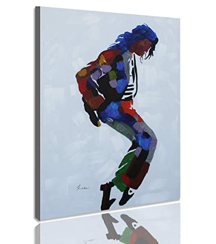 XinYa-Art, Original Ex-Large Michael Jackson Moonwalk Abstract Oil Painting  Artwork, 100% Hand Painted Canvas Wall Art (30 x 40 Inch)