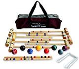 8-Player Deluxe Amish Crafted Croquet Game Set with Carry Bag (29'' Mallet Length)