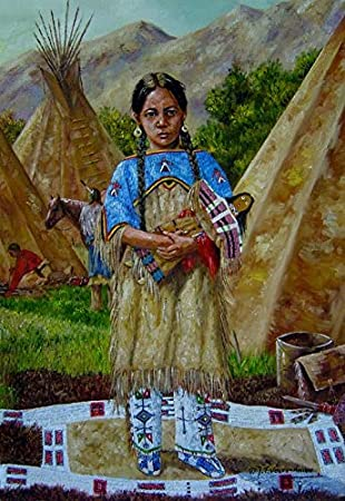 Teepee Little Indian Girl Indian Posters Wolf Indians Nursery Prints Set of 3 Prints Adventure Prints Wall Art Girls Boys Room Decor