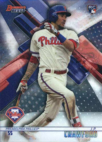 2018 Bowman's Best Baseball #38 J.P. Crawford RC Rookie Philadelphia Phillies MLB Trading Card made by Topps Company ()