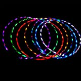 YOEDAF 35inch Hula Hoop,Colorful LED light Twist Hula Hoop Cosmic Glow Hula Hoop(7 Color Change )