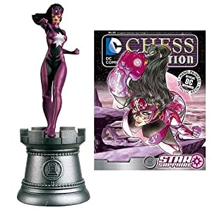DC Superhero Star Sapphire White Rook Chess Piece with Collector Magazine