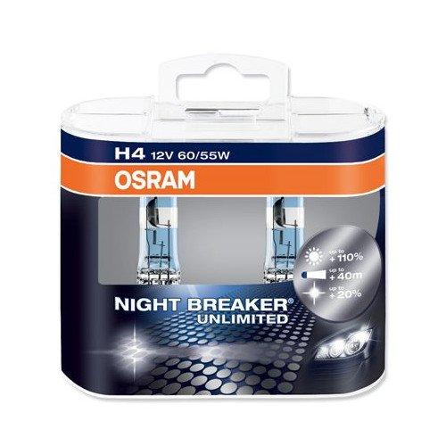 H4 / 9003 / 472 OSRAM Nightbreaker Unlimited Halogen Bulbs