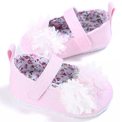 Pueri Zapato Niñas Zapatos Primer paso Zapatos Princesa Zapatos Flor Rosa