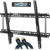 """Cheetah APTMM2B TV Wall Mount for 20-80"""" TVs (some up to 90"""") up to VESA 600 and 165lbs, fits 16"""", 24"""" Wall Studs, includes a Tilt TV Bracket, a 10' Twisted Veins HDMI Cable and a 6"""" 3-Axis"""