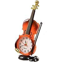 CWLLWC Reloj analógico,Reloj de chimeneaSimulación violín Despertador salón