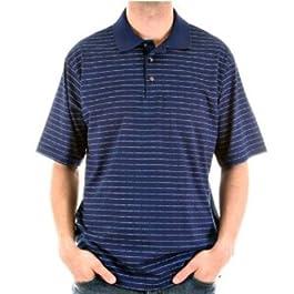 BURBERRY Polo Pique Navy Polo Shirt
