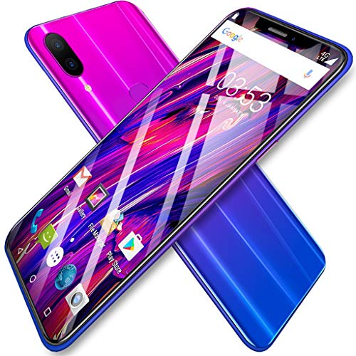 ❤️MChoice❤️Eight Cores 6.2 inch Dual HD Camera Smartphone Android16GB Dual SIM Mobile Phone (Purple)