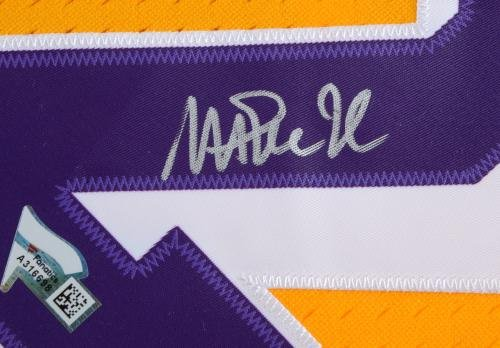 f7cffae47 Magic Johnson Los Angeles Lakers Autographed Gold Mitchell & Ness ...