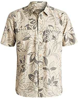 Mens Abundance Button Up Short-Sleeve Shirt
