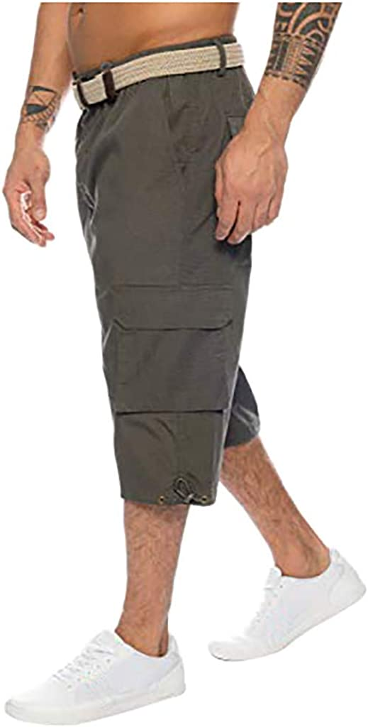 RTYou Mens Military Shorts Casual Wicking Walking Shorts Elastic Band with Multi Pockets Big and Tall Running Athletic Shorts