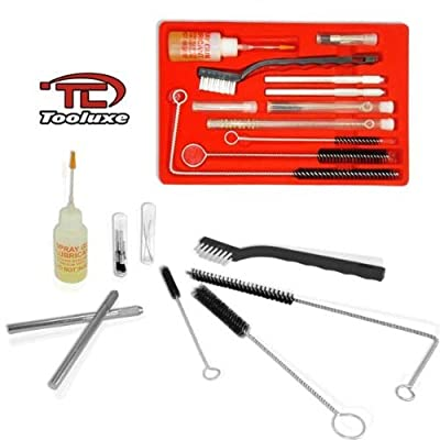 Tooluxe 22-Piece Complete HVLP Air Spray Gun Cleaning Kit