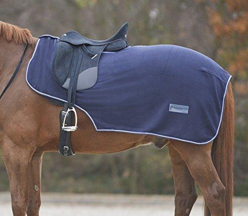 Pferde Ausreitdecke Nierendecke aus Fleece mit Sattelausschnitt Gr. Warmblut