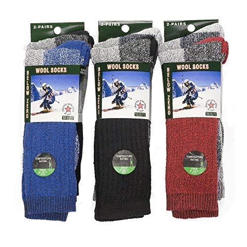 6 Pairs of Excellent Mens Merino Wool Thermal Socks ,Size 10-15