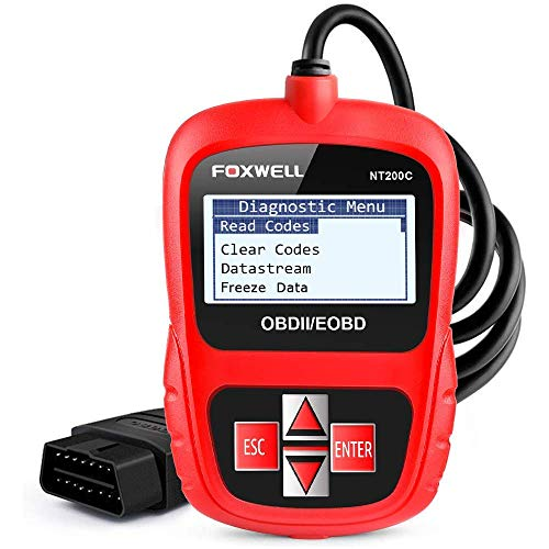 FOXWELL OBD2 Scanner Car Engine Fault Code Reader CAN OBD II Automotive Diagnostic Scan Tool Obdii NT200C Red -