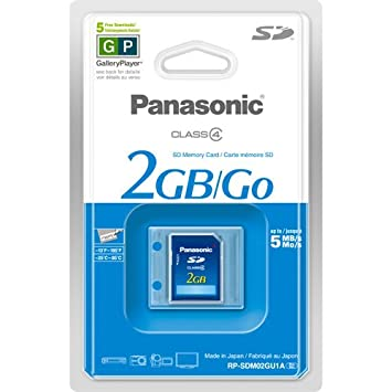 Panasonic RP-SDM02GU1A Memoria Flash 2 GB SD - Tarjeta de Memoria ...