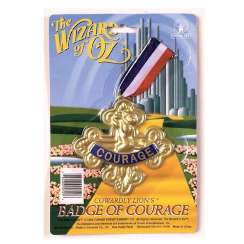 The Wizard of Oz Badge of Courage One Size - Lion Cowardly Badge