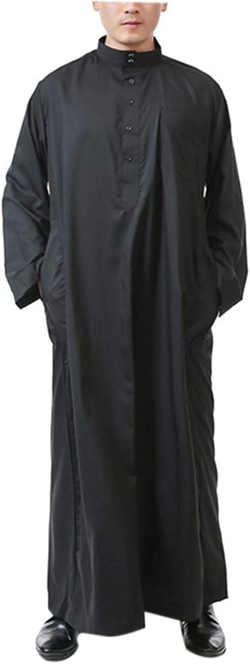 Kaftan para Hombres Ropa Musulmana - Vestido Abaya Dubai Maxi Largo Jalabiya Casual de Fiesta