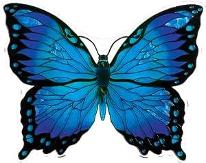 Joan Baker Designs TPF1006 Glass Tile Plaques, Blue/Black Butterfly, 8 by 6-Inch
