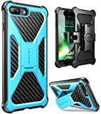 i-Blason Case for iPhone 7 Plus/ 8 Plus 2017, Transformer Kickstand Heavy Duty Dual Layer Combo Holster Cover case with…