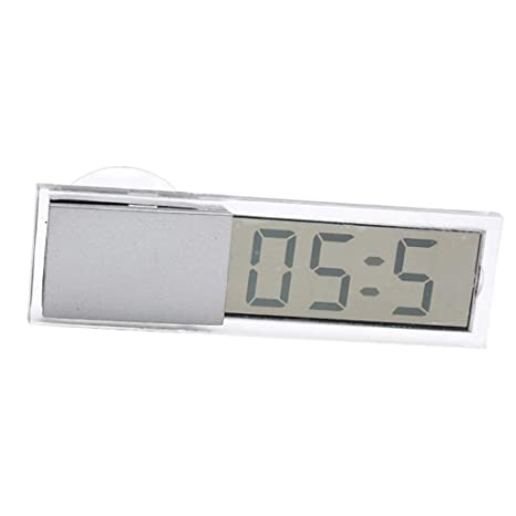 Homyl Reloj Digital Pantalla LCD Reloj Práctico de Baño con Ventosa Fácil de Usar