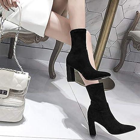 95b525cde7 Shukun Stivaletti Scrub Boots Donna Autunno e Inverno Calze con i ...