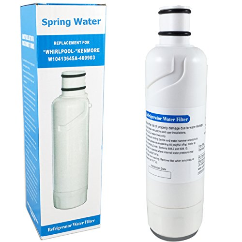 Spring Water Filter 2 W10413645A Refrigerator Water Ice Premium Replacement Filter for Whirlpool EDR2RXD1 Maytag KitchenAid Jenn-Air Amana Kenmore 46-9903 (1) (Pur Whirlpool W10413645a compare prices)