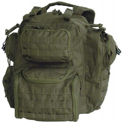 Voodoo Tactical Improved Matrix Pack Backpack MOLLE – Hydration Compatible – 15-9032 Olive Drab OD Green, Outdoor Stuffs