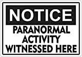 Yetta Quiller Metal Sign Talk 12in x18in Notice Paranormal Activity Metal Sign Aluminum Signs Halloween Sign