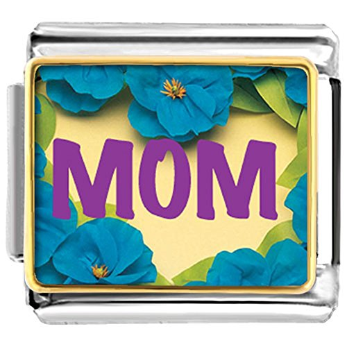LuckyJewelry Mother's Gift Mom Nomination Etched Italian Charm Sale Cheap fit Bracelet Link