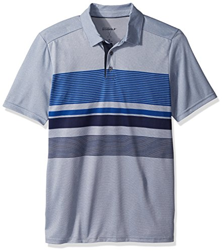 Skechers Golf Men's Slice Engineered Stripe Polo,french blue,M