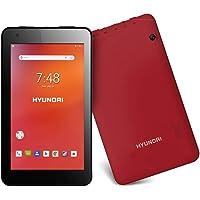 "Hyundai Koral 7W4 - Tablet 7"" Android 8.1 Oreo Go Edition, 8 GB, 1 GB RAM, Rojo"