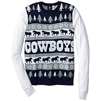 NFL Dallas Cowboys One Too Many Ugly Sweater, X-Large, Blue