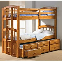 Donco Twin over Twin Captains Trundle Bunk Bed