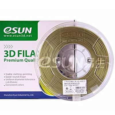 eSUN Bronze filament 1.75mm 0.5kg(1.1lb) Spool for Makerbot, Reprap, UP, Afinia, Flash Forge and all FDM 3D Printers