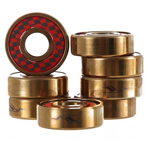 Gold Skateboard Bearings - Cortina Bearing Co Signature Model Gold Skateboard Bearings