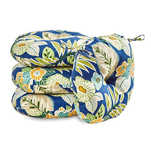 Greendale Home Fashions 18 in. Round Outdoor Bistro Chair Cushion set of 4 , Marlow Floral