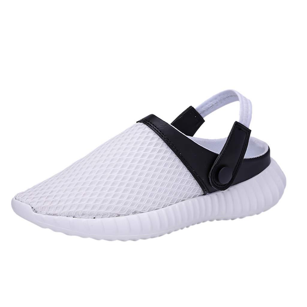 【MOHOLL】 Mens Womens Garden Clogs Slippers Lightweight Beach Walking Shoes Sandals White
